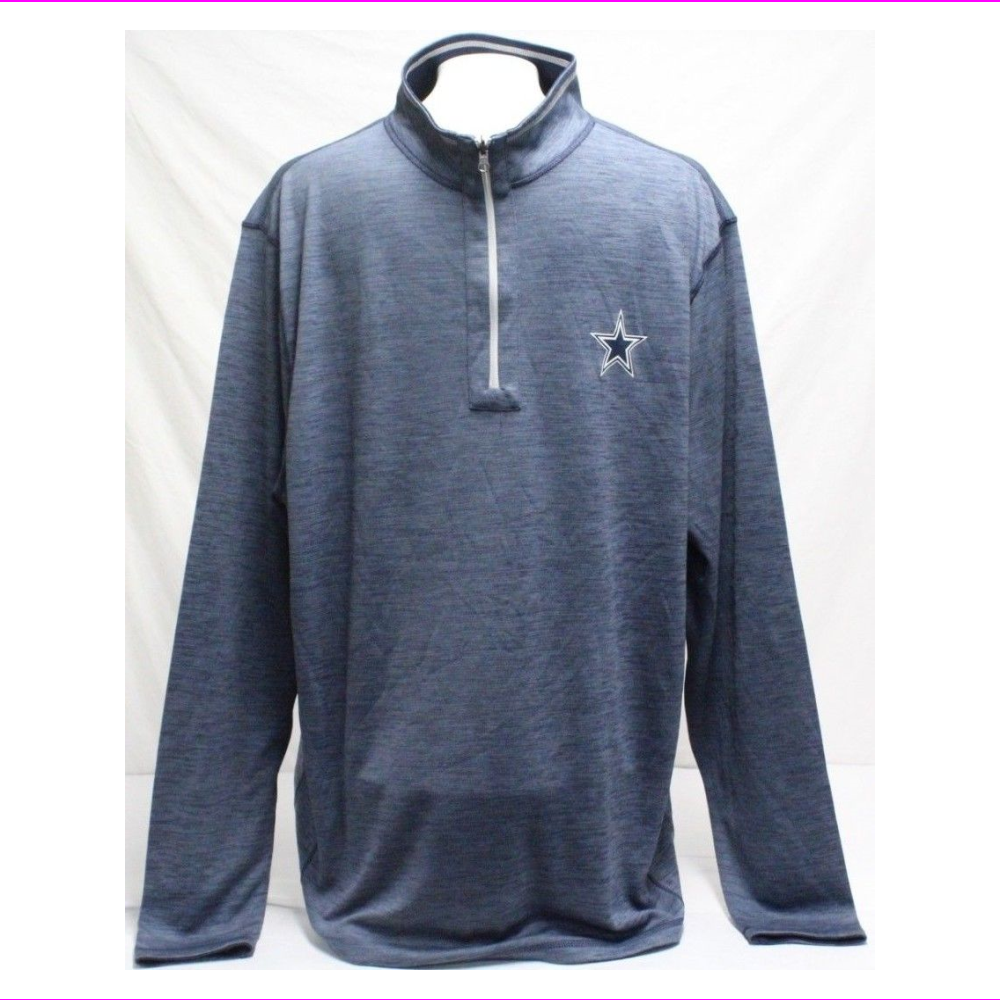 Dallas Cowboys Men's 1/4 Zip Long Sleeve Shirt