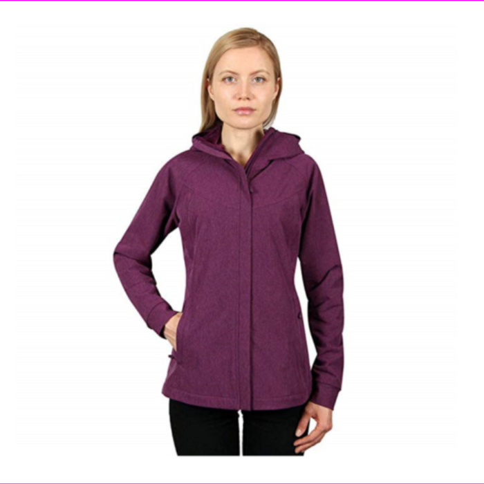 Kirkland Signature Women Breathable and Wind Resistant Jacket  Fuchsia Heather M