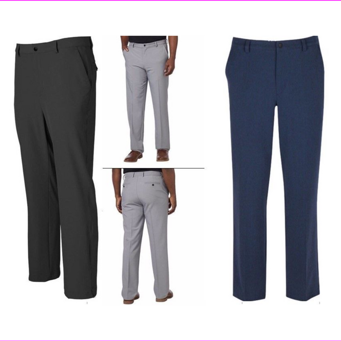 Greg Norman Men's Comfort 4 way Stretch Moisture wicking Travel Pant