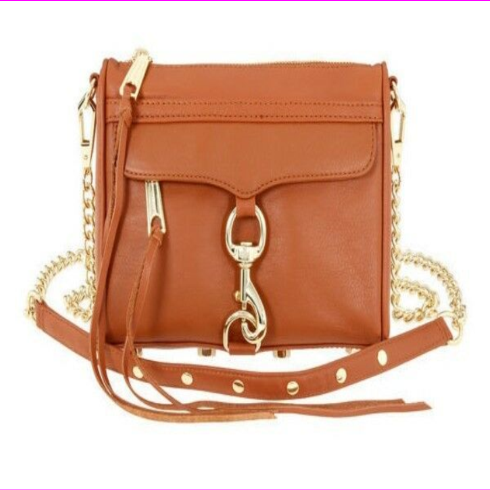 Rebecca Minkoff HS16IFCX01 Mini MAC Honey Convertible Cross-Body Handbag