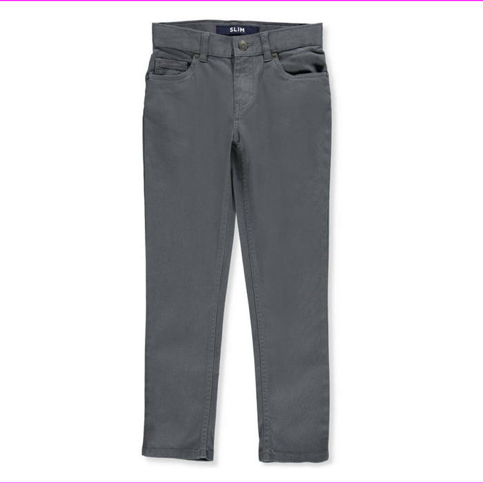 French Toast Boys' Twill Wrinkle-Free Adjustable waistband classic chino Pants