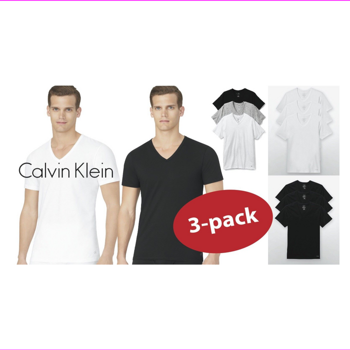 Calvin Klein Men's Cotton Stretch V-Neck Short Sleeve T-Shirt