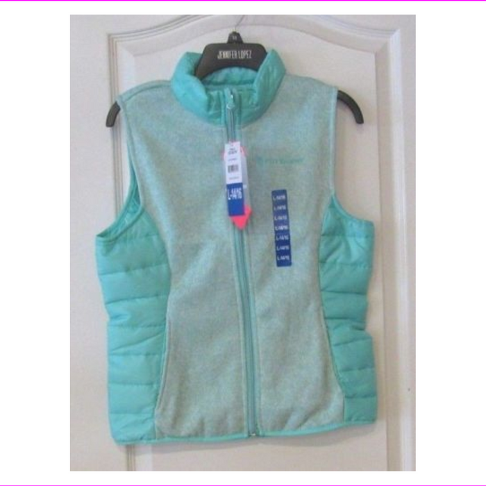 Free Country Quartz Hybrid Fleece Vest Spearmint Girl's  Spearmint L-14/16