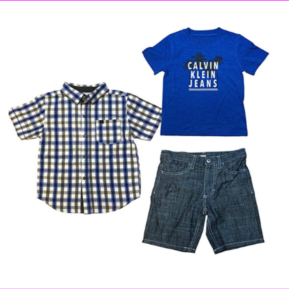 Calvin Klein Jeans Kids 3 Pc Short Set