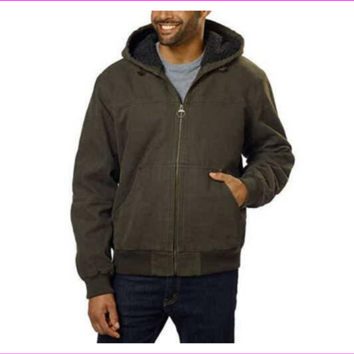 G.H. Bass & Co. Men's Canvas Hooded Bomber Jacket