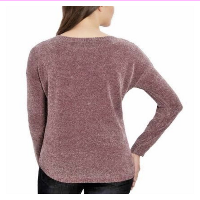 Ellen Tracy Bordeaux Tweed Knit Pullover Sweater