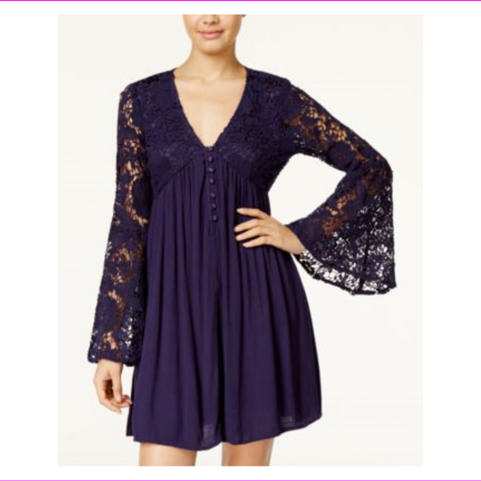 American Rag Bell-Sleeve Babydoll Dress Burnt Henna