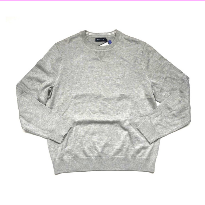 Nautica Mens Light Weight Crew Neck Solid Sweater