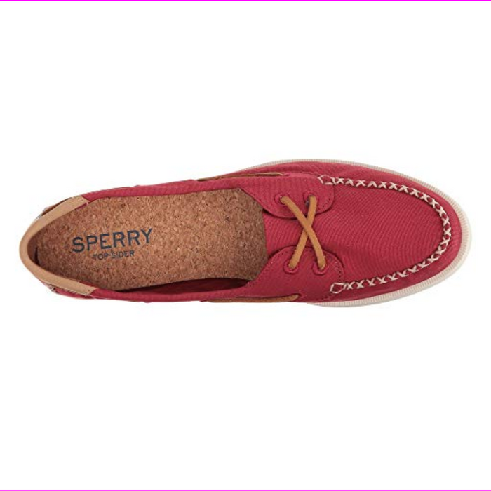 Sperry Top-Sider Women's A/O Venice Canvas Boat Shoes Red  8.5