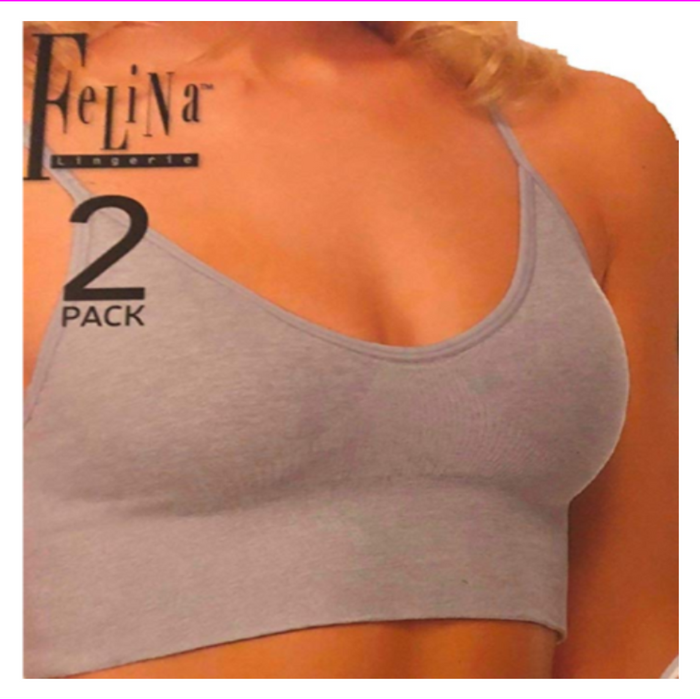 Felina Ladies Seamless T-Back Wire Free Bralete with Removeble Pad
