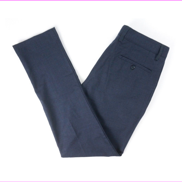 BLOOMINGDALES FLANNEL WOOL TAILORED FIT STRETCH DRESS PANTS
