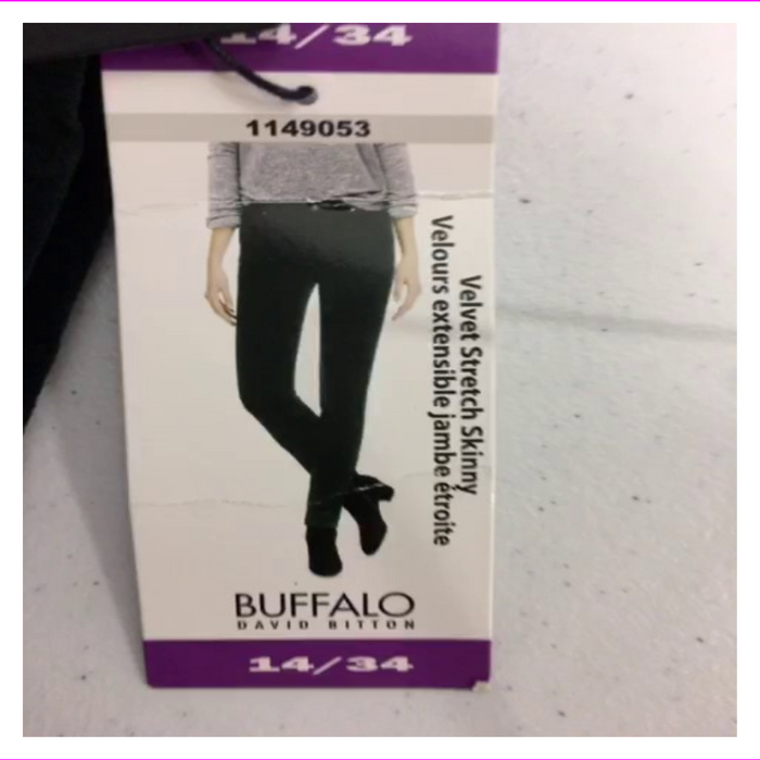 Buffalo Ladies' Velvet Pant with Stretch
