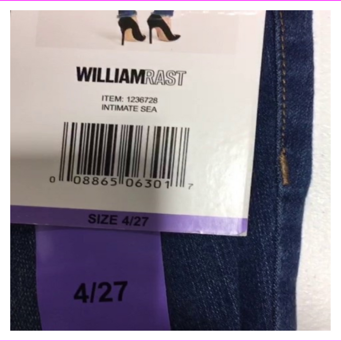 Women's WILLIAMRAST Perfect Skinny Frayed Hem Jeans