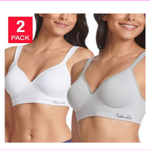 Splendid Ladies' Seamless Wireless Bra - 2 PACK