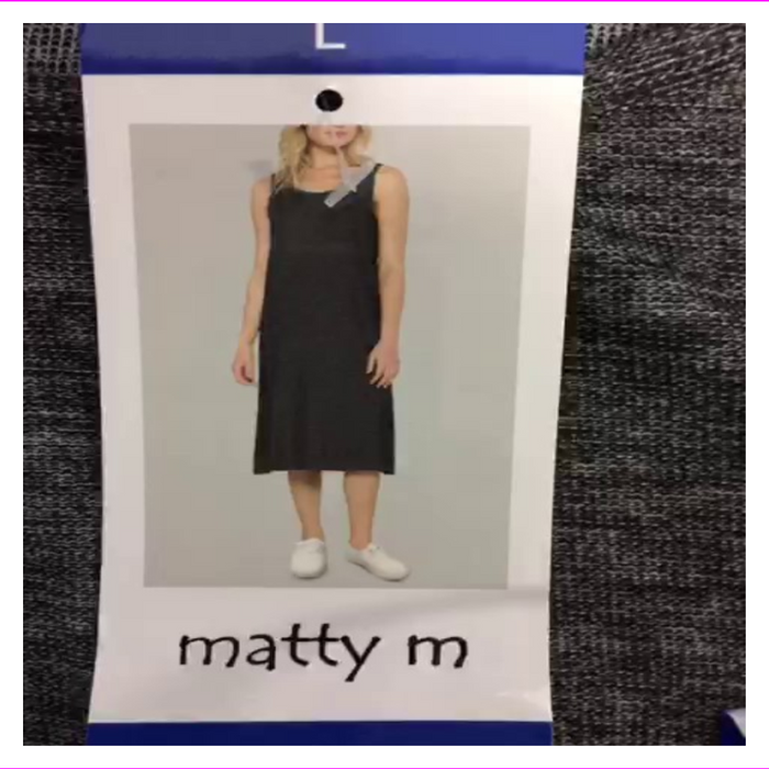 Matty M Women's Side-Slit Tank Dress