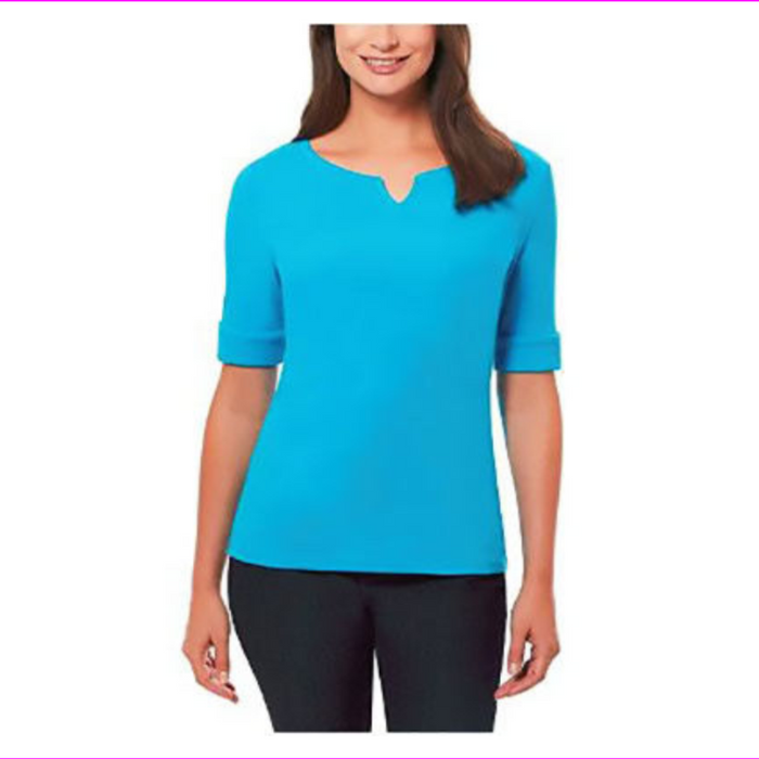 Ellen Tracy Ladies' Elbow Sleeve Top