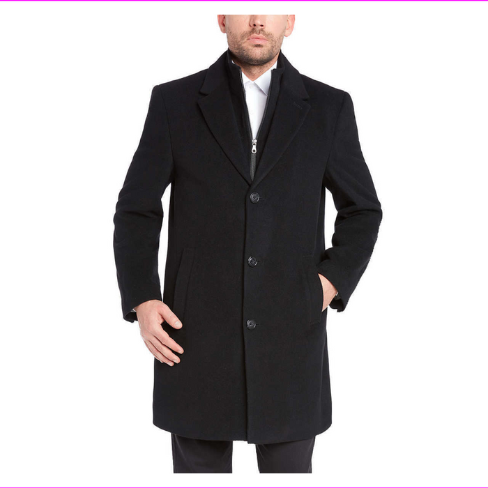 Kirkland Signature Men's Wool Cashmere Blend Overcoat