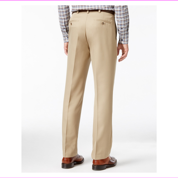 Haggar Dress Pants, Performance Comfort Classic Fit Flat Front Microfiber