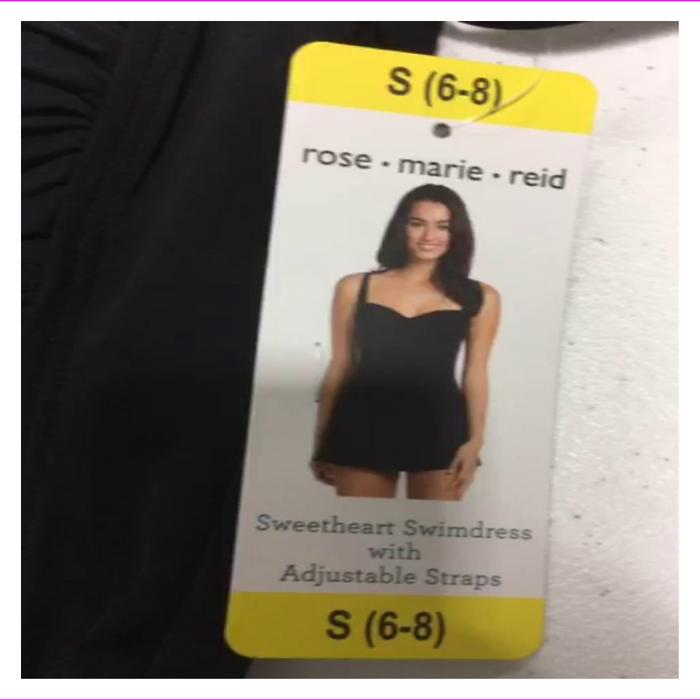 Rose Marie Reid Women's Adjustable straps Molded soft foam cups Swimdress