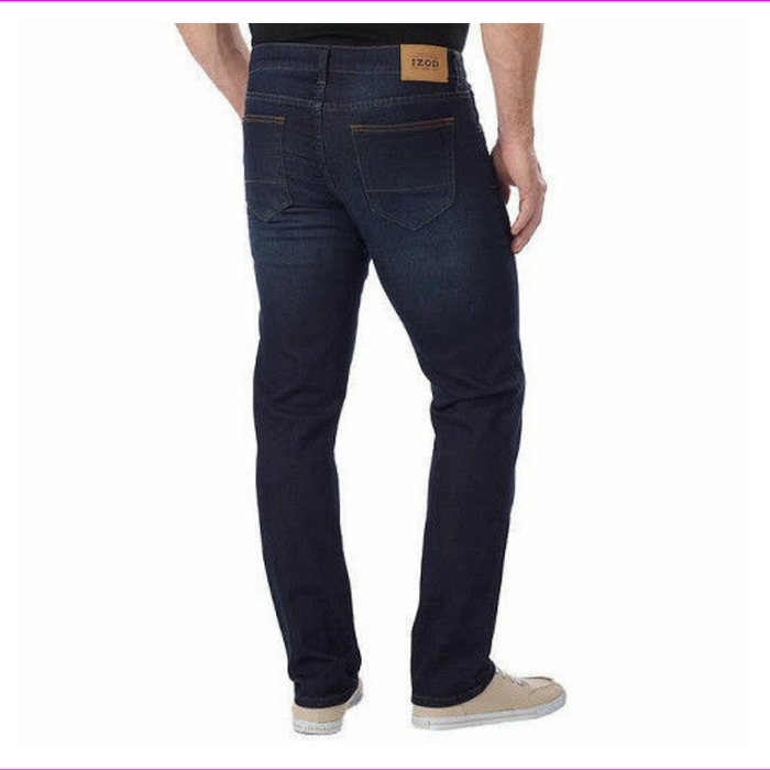 IZOD Men's Comfort Stretch Straight Fit Jeans