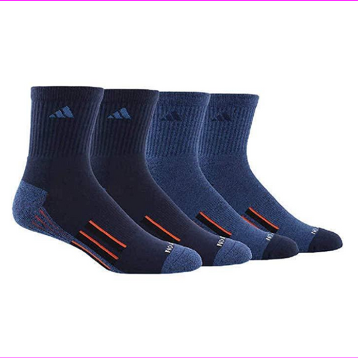Men's Adidas Performance Climalite High Quarter Socks 4 Pair