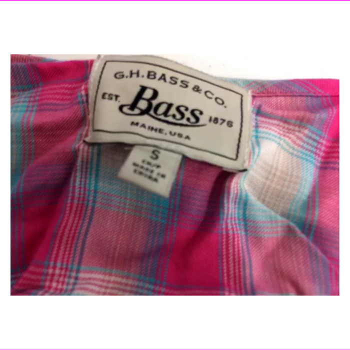G.H. Bass Co. Plaid Bishop-Sleeve Top