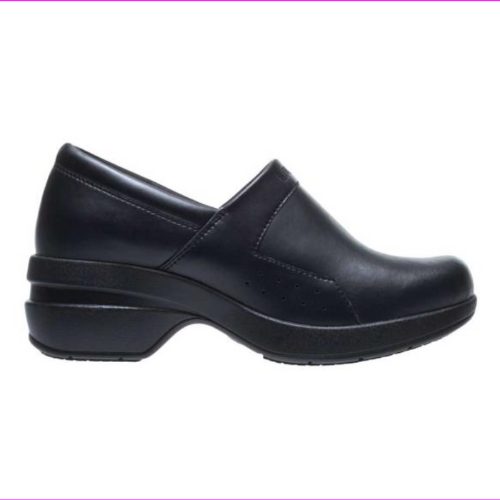 Wolverine Women's Xpedite A-Line SR Closed Back Clog  Leather Clogs Black