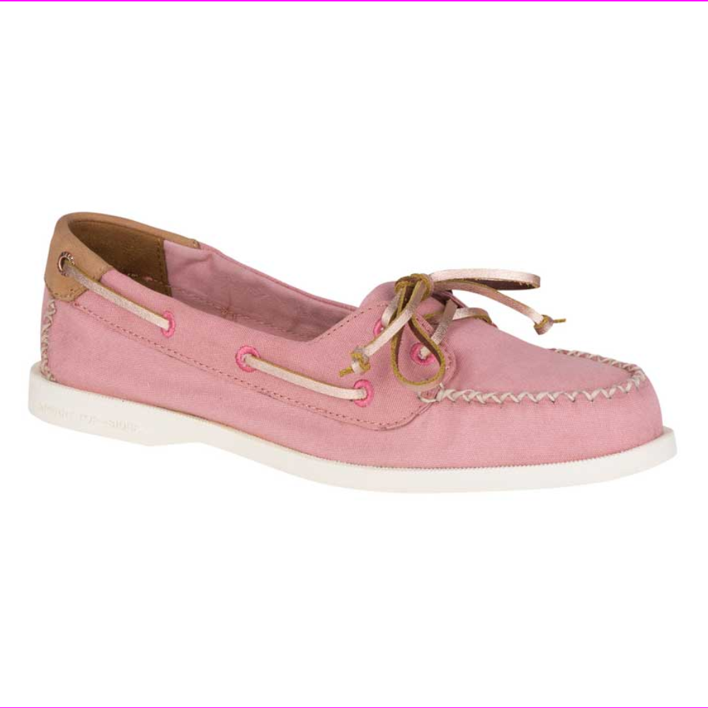 Sperry Top-Sider A/O Venice Canvas Authentic Original Womens Boat Shoes Rose