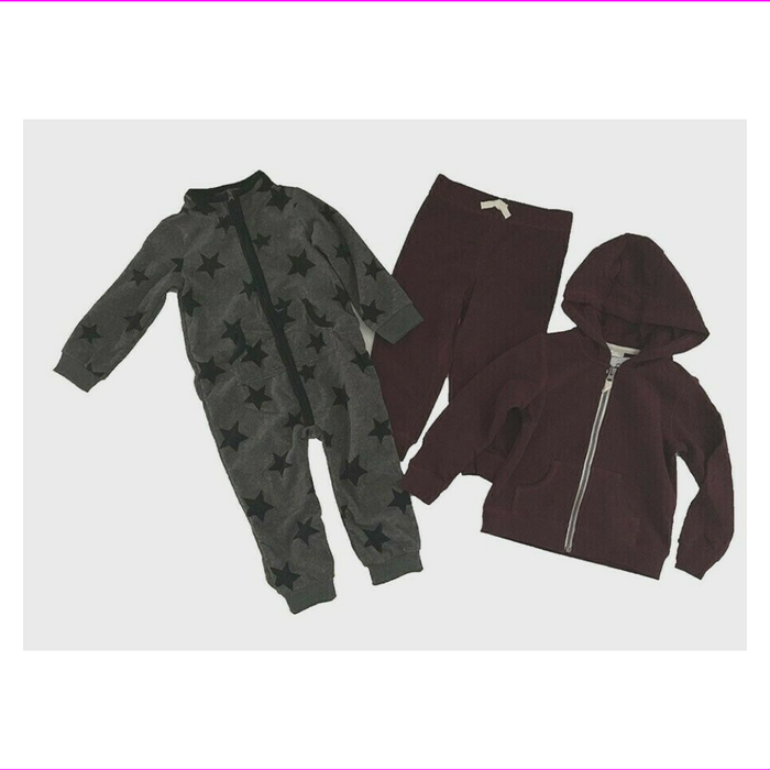 Carter's Baby 3-Piece Full zip Pants and Hoodie and Bodysuits
