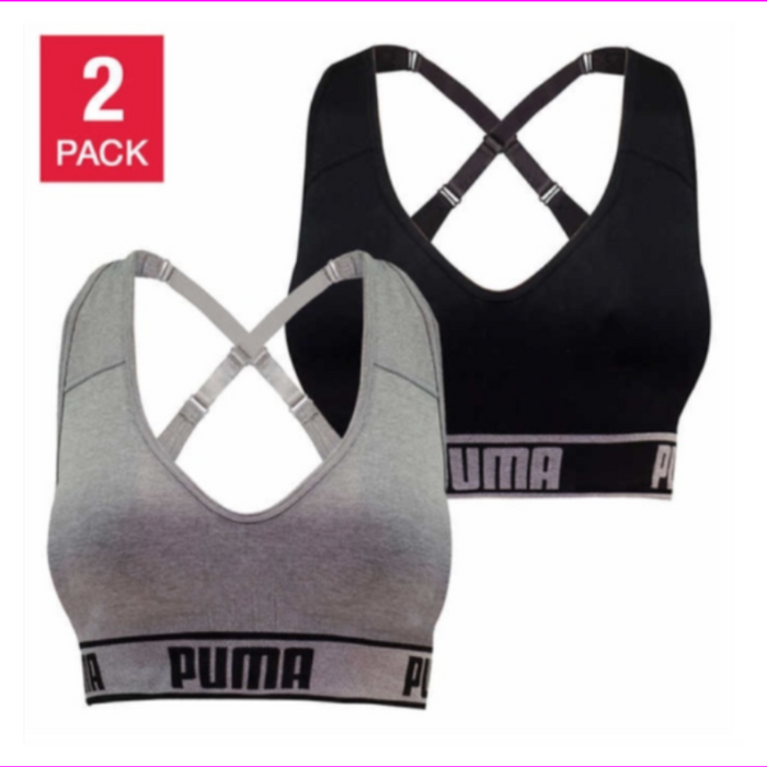 Puma  women's 2 Pack Impact Seamless Sports Bra