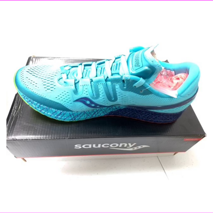 Saucony Women's Freedom ISO Running Shoes Blue/Citron