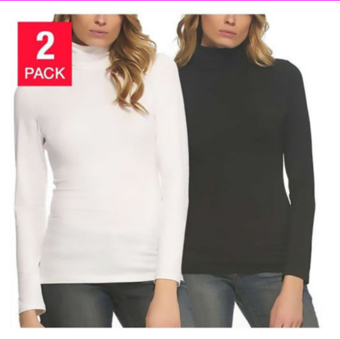 FELINA 2PK SUPER SOFT MODAL COTTON LONG SLEEVE LAYERING T-SHIRT