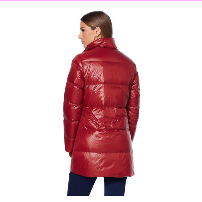 G by Giuliana Women's Down Puffer Coat Water-Resistant Zip Quilted