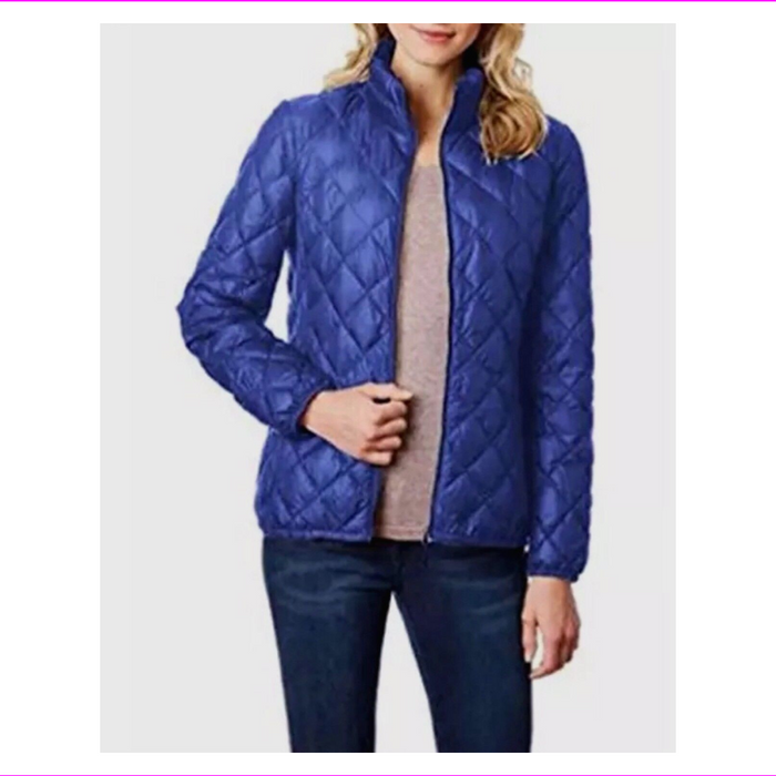 32 Degrees Heat Women's Down Packable Purple Zip Jacket