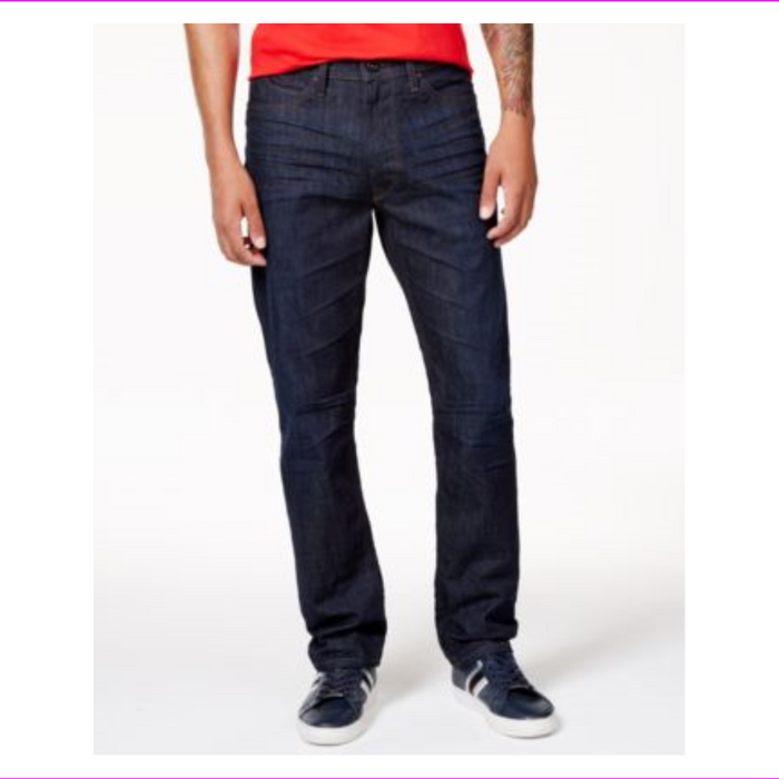 Sean John Men's Athlete Tapered Straight fit Zip fly Jeans