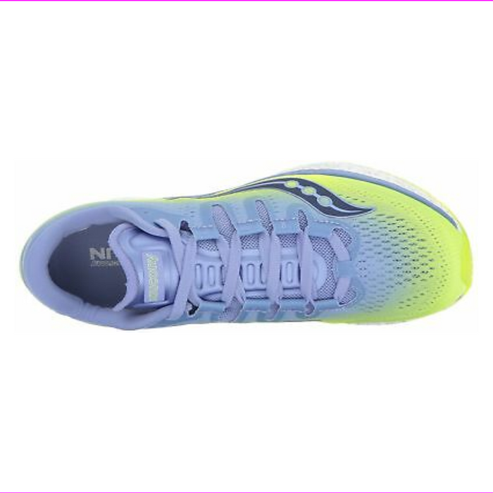 Saucony Women's Freedom Iso Running-Shoes Citron Purple