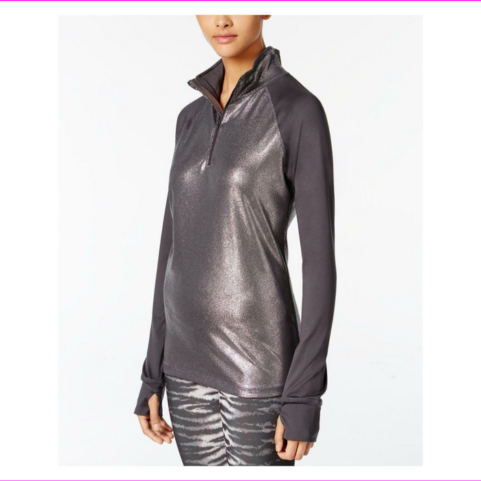 Material Girl Juniors Metallic-Trimmed Jacket Heather