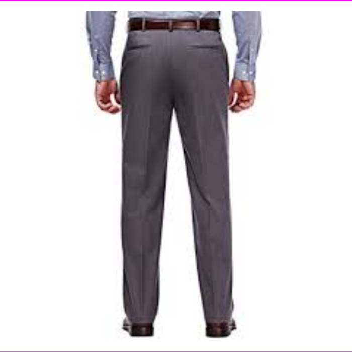Haggar Clothing Flat Front Straight Fit  Stretch Chino