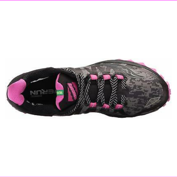 Saucony Women's Peregrine 7 Runshield Running Shoes Black/Pink