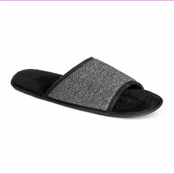 bar III Mens Heathered Slide Slippers