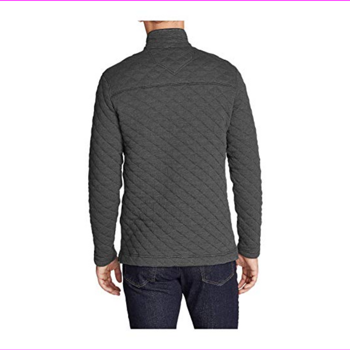 Island Sands Men's 1/4 Zip Long Sleeve Quilted Pullover