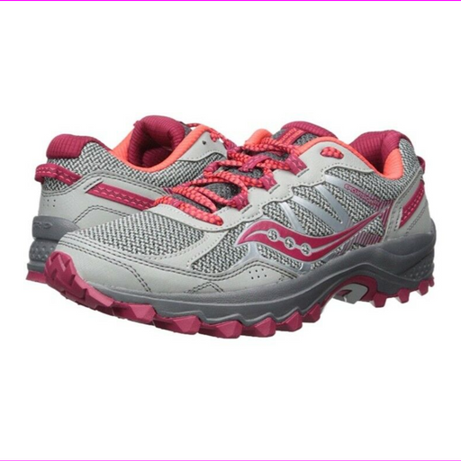 Saucony Excursion TR11 Women's Running Shoes Wide Grey/Pink