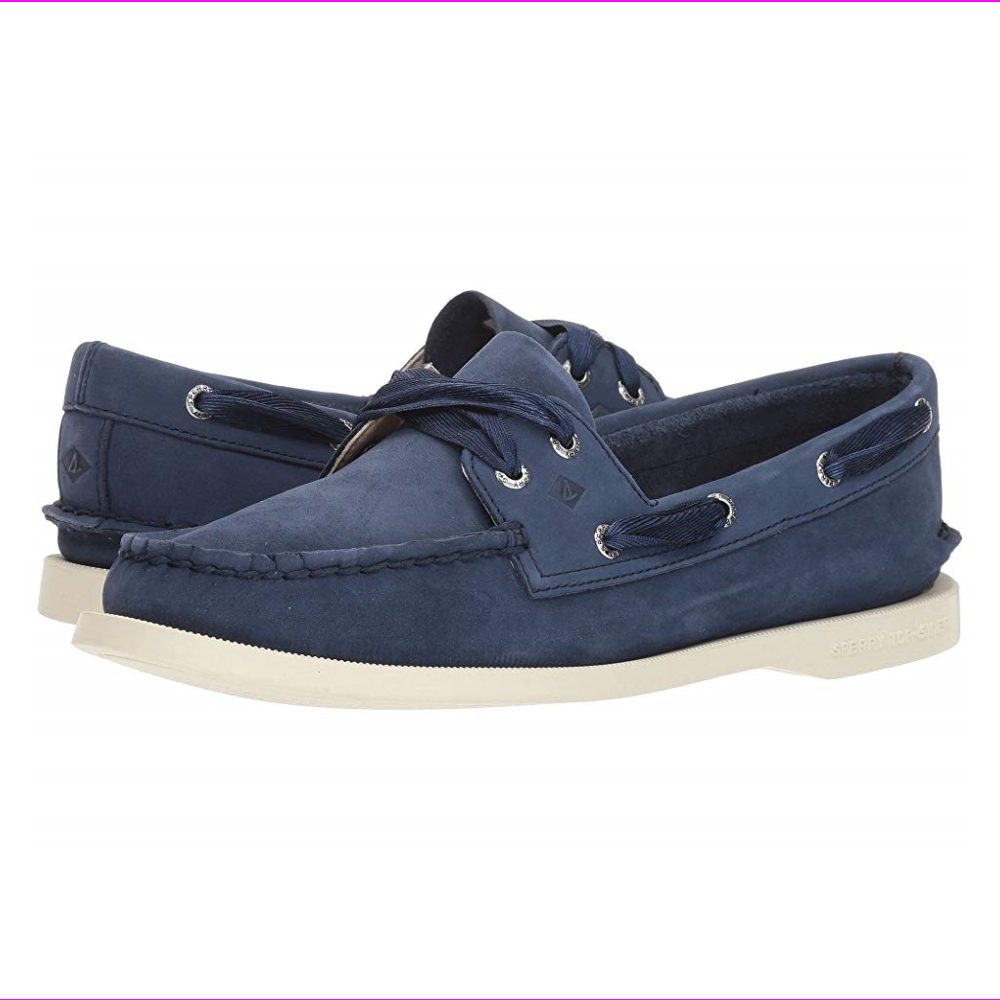 Sperry Top-Sider A/O Satin Lace Women's Boat Shoes Navy 8