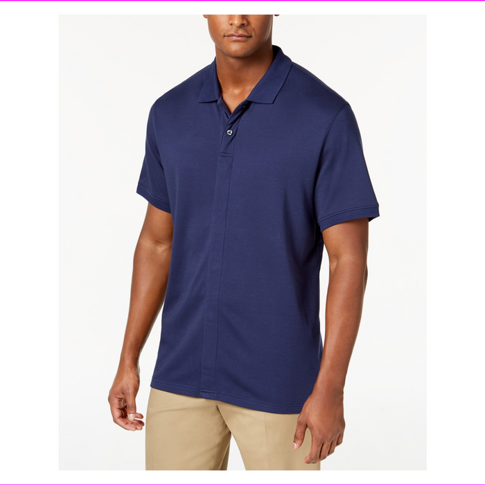 Magnaclick Men's Polo Short Sleeve Shirt Magnetic Button Closures