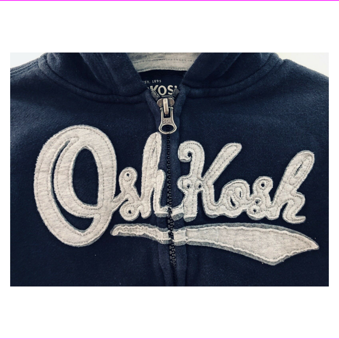 OshKosh B'Gosh Boy's Blue Zip Up Hooded Sweater Jacket