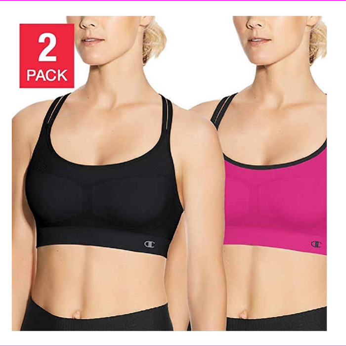 Champion Women's Seamless Criss Cross Bra (2 pack)