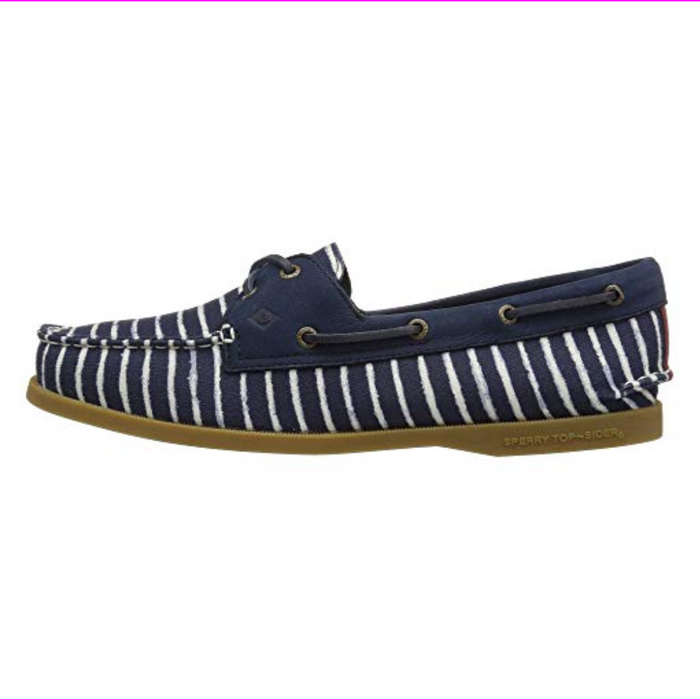 Sperry  Top-Sider A/O Indigo Stripe Women's Lace up casual Shoes Navy 7.5