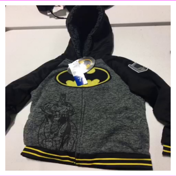 Batman Comics Character Kids' Full Zip Hoodie