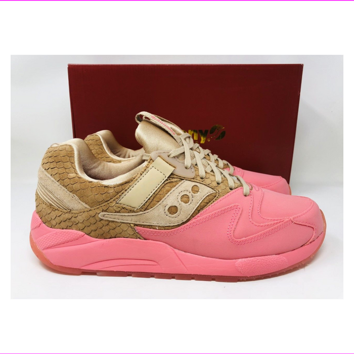 Saucony Men's Grid 9000 HT Running Athletic Shoes Tan/Pink