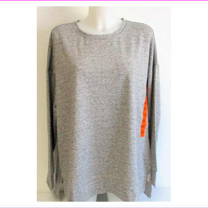 32 Degrees Ladies' Fleece Pullover Heather Grey XXL